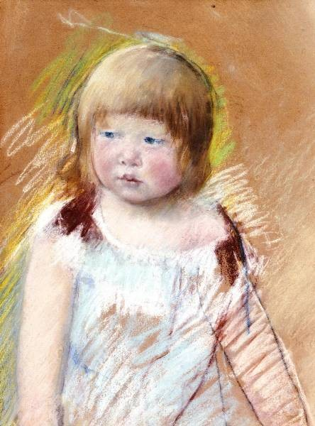 Child with Bangs in a Blue Dress